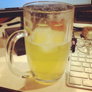 Beer + Lemonade - Radler - Shandy on desk
